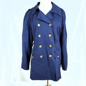 St. John's Bay Navy Blue Lightweight Trench Coat